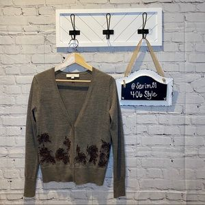 LOFT Brown Lace Cardigan